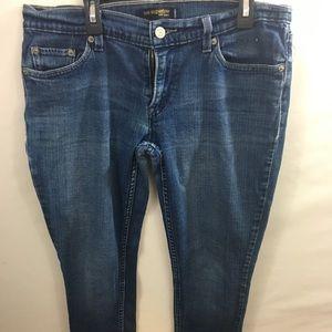 Levi's Superlow 524 Denim Jeans Sz 11 Skinny EUC